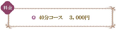 40分コース 3000円