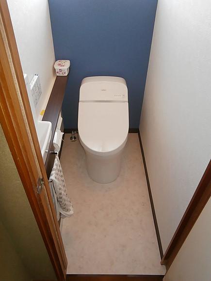 タンク式トイレから、タンクレストイレへの取替え